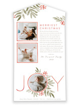 This is a red all in one holiday card by Oscar & Emma called Ultimate Joy with standard printing on value cover in all-in-one.