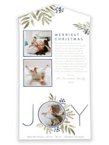 This is a blue all in one holiday card by Oscar and Emma called Ultimate Joy with standard printing on value cover in all-in-one.