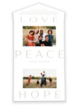This is a white all in one holiday card by Amy Kross called Peace to You with standard printing on value cover in all-in-one.