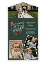 This is a green all in one holiday card by Carrie ONeal called Santa Stop with standard printing on value cover in all-in-one.
