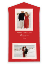 This is a red all in one holiday card by Jessica Williams called Prism with standard printing on value cover in all-in-one.