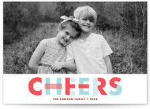 Cheers Letterpress Holiday Photo Cards