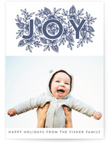 Floral Joy Letterpress Holiday Photo Cards By Katharine Watson