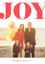 Grand Joy Letterpress Holiday Photo Cards By Alston Wise
