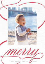 Holiday Swirls Letterpress Holiday Photo Cards By Lehan Veenker