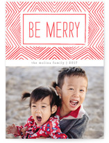 Merry Ikat Letterpress Holiday Photo Cards By Paper Dahlia