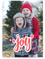 Much Joy Letterpress Holiday Photo Cards By Paper Dahlia