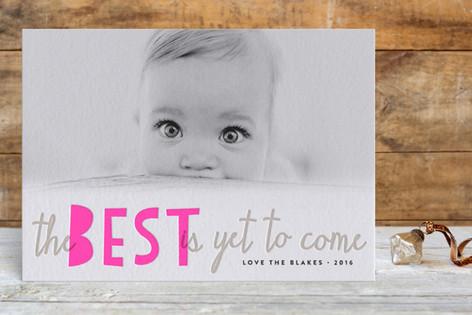 Bright Future Letterpress Holiday Photo Cards