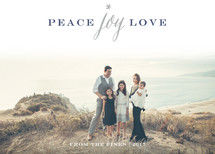 Peace Joy Love Letterpress Holiday Photo Cards By Sarah Curry