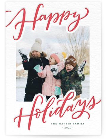 Very Happy Holidays Letterpress Holiday Photo Cards