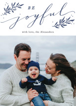 Joyful Branches Letterpress Holiday Photo Cards By Everett Paper Goods