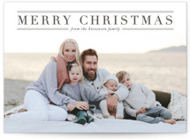 This is a black letterpress holiday card by Design Lotus called Martha's Vineyard with letterpress printing on bright white letterpress paper in standard.