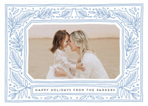 Folk Border Letterpress Holiday Photo Cards By Katharine Watson