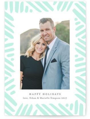 winter's frame Letterpress Holiday Photo Cards
