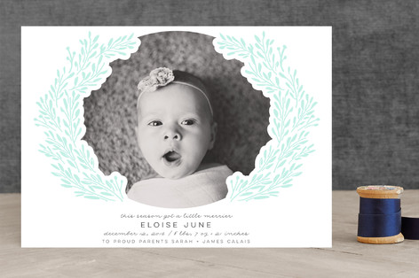 Grecian Crown Letterpress Holiday Photo Cards