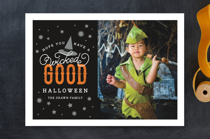 """Wicked Good"" - Halloween Cards in Pumpkin by Sandra Picco Design."