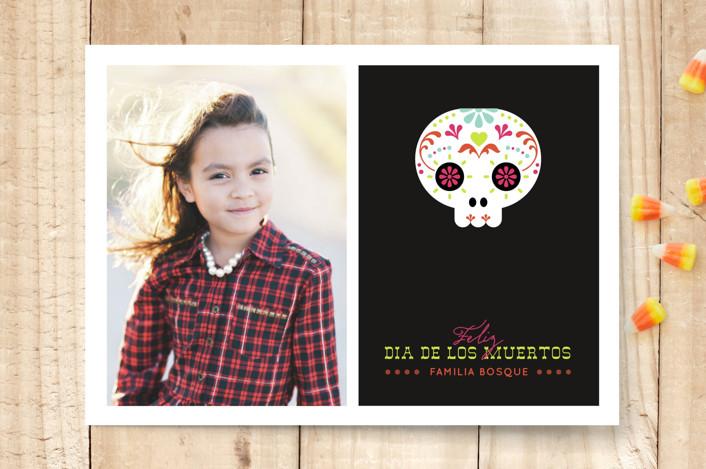 """Calaverita"" - Modern Halloween Cards in Black by Aspacia Kusulas."