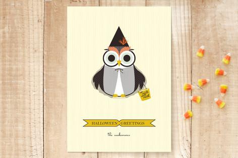 Happy Owl-o-ween Halloween Cards