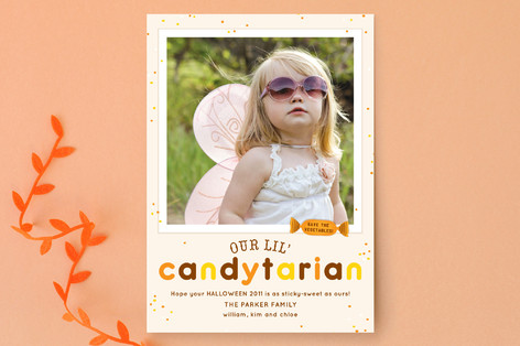 Candytarian Halloween Cards