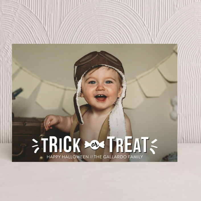 """Sweet Treat"" - Full-Bleed Photo Halloween Cards in Ghost by R studio."