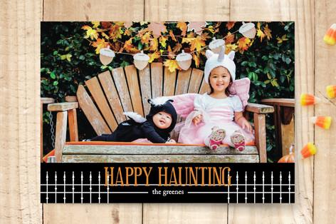 Haunted Yard Halloween Cards