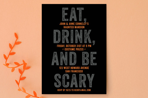 Eat, Drink, Be Scary Halloween Cards