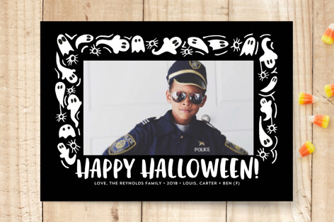 Ghost Frame Halloween Cards
