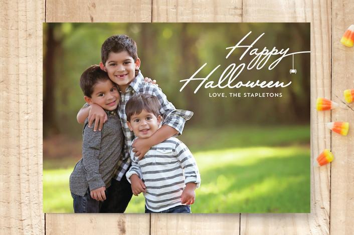 """""""Halloween Spider"""" - Halloween Cards in Black Spider by Erika Firm."""