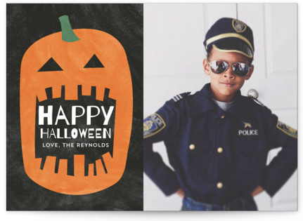 Watercolor Pumpkin Halloween Cards