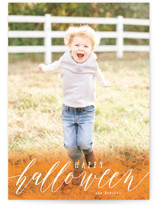 This is a orange halloween party invitation by Creo Study called Simply Halloween printing on smooth signature in standard.