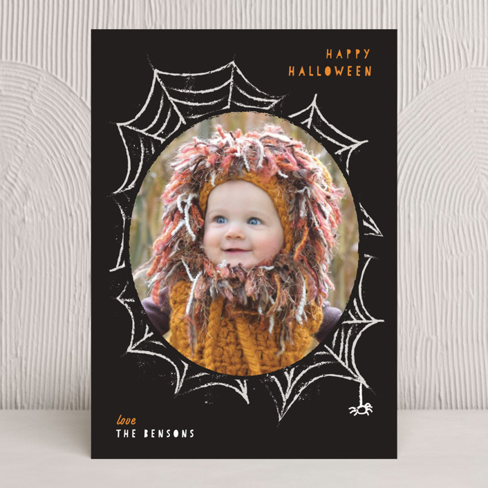 """Spooky Frame"" - Halloween Cards in Pumpkin by Sweta Modi."