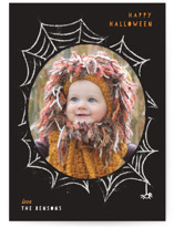 This is a black halloween party invitation by Creo Study called Spooky Frame printing on smooth signature in standard.