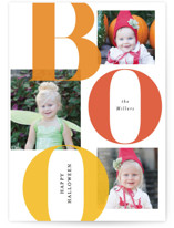 This is a orange halloween party invitation by Itsy Belle Studio called Bold Boo printing on smooth signature in standard.