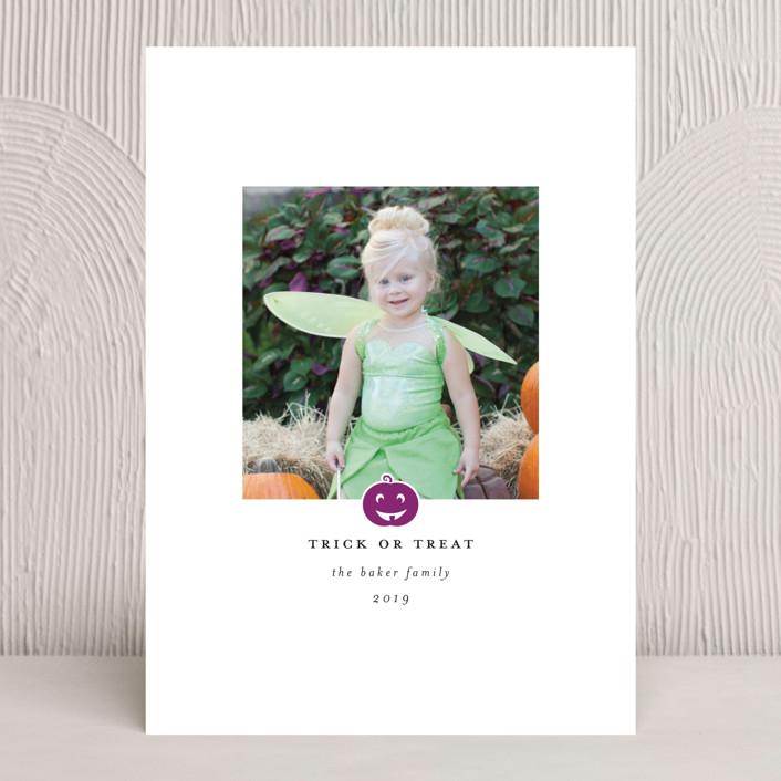"""Happy Pumpkin"" - Halloween Cards in Pumpkin by Laura Hamm."