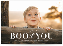This is a white halloween party invitation by Bethany Anderson called Boo 2 You printing on smooth signature in standard.