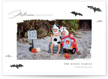 This is a black halloween party invitations card by Pixel and Hank called Halloween Happiness printing on smooth signature in standard.