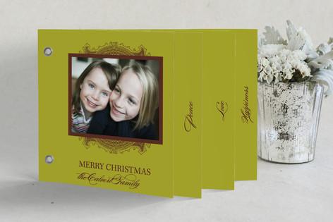 Ornate Frame Holiday Minibook™ Cards