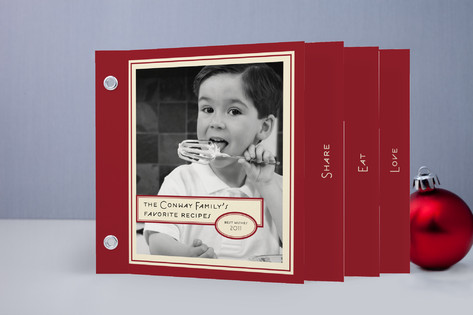 Vintage Peppermint Recipe Holiday Minibook™ Cards