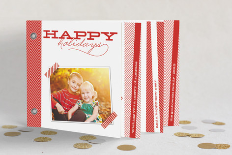 Chevron Cheer Holiday Minibook™ Cards