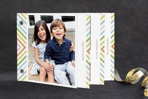 chevron rainbow Holiday Minibook™ Cards