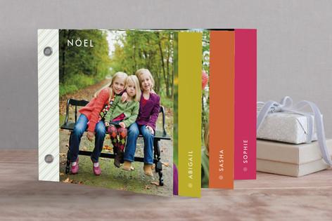 technicolor snowflake Holiday Minibook™ Cards