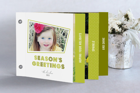 Retro Sparkle Holiday Minibook™ Cards