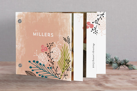 Peachy Holiday Greeting Holiday Minibook™ Cards