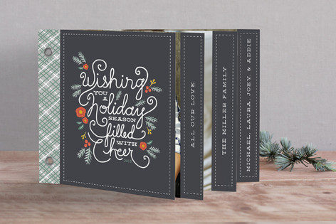 Winter Foliage Cheer Holiday Minibook™ Cards