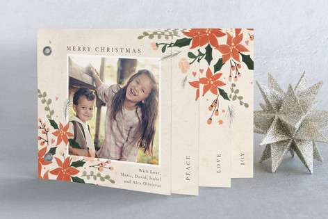 Poinsettia Holidays Holiday Minibook™ Cards