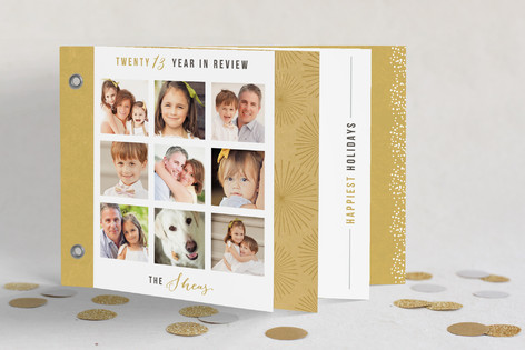 Gilded Year in Review Holiday Minibook™ Cards