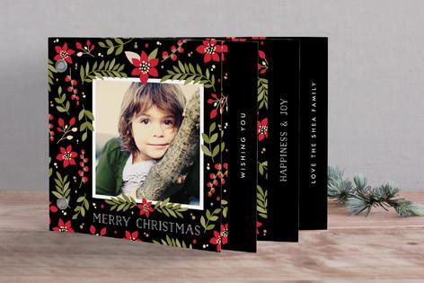 Poinsettia Holiday Minibook™ Cards
