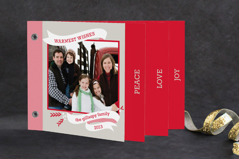 Peppermint Ribbon Holiday Minibook™ Cards