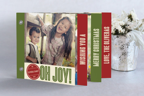 Retro Peace Holiday Minibook™ Cards