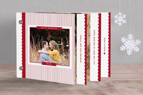 Polka Stripes Holiday Minibook™ Cards